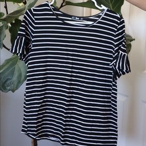 SHEIN black and white striped shirt
